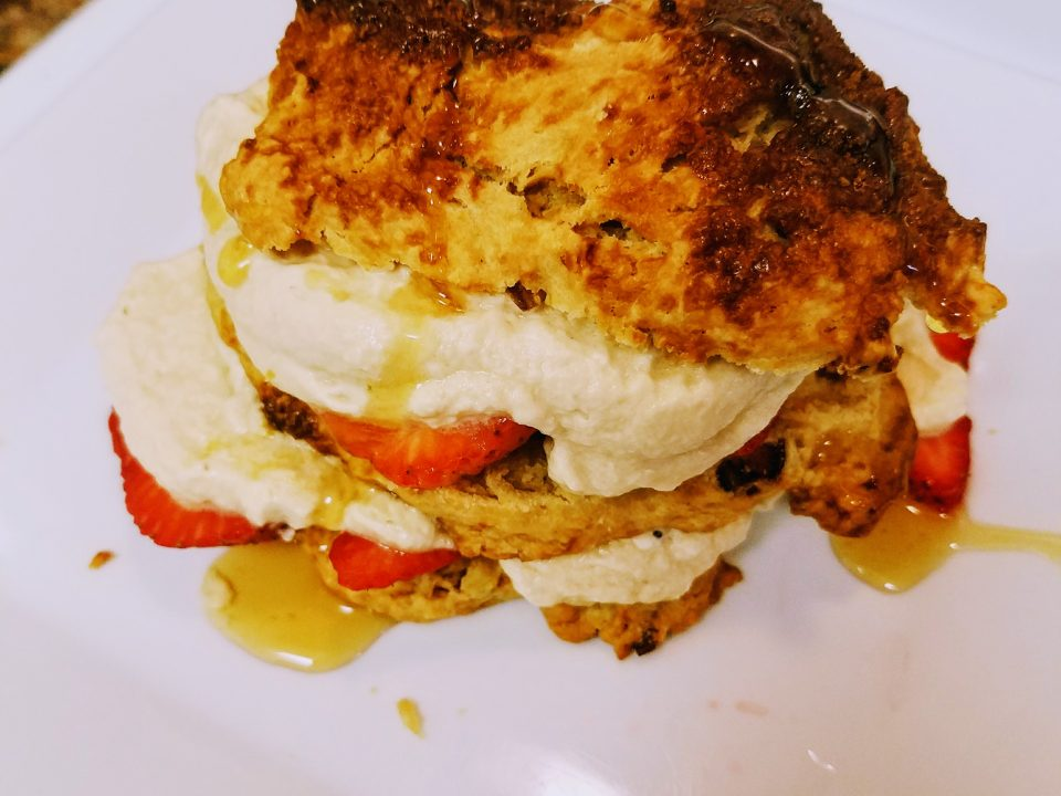 "Southern ""biscuit-style"" Strawberry Shortcake"